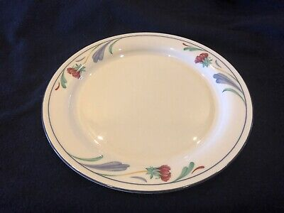 "Lenox Chinastone Poppies On Blue 10 3/4"" Dinner Plates. Very nice condition"