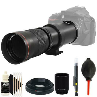 Vivitar 420-800mm f/8.3 Telephoto Zoom Lens with 2X converter and more for Nikon