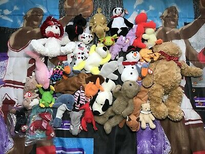 8daf1033ed5 33 TY BEANIE Baby Vintage To New Age Plush Toy Lot -  19.99