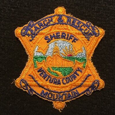 VENTURA COUNTY SHERIFF CALIFORNIA SEARCH /& RESCUE HELICOPTER SHOULDER PATCH