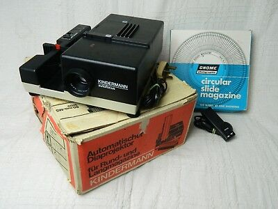 Kindermann Autofocus Slide Projector Model 1814 85mm Boxed with Remote Magazine