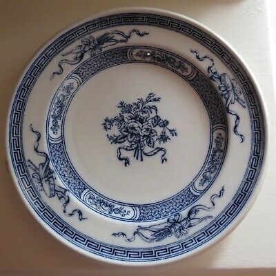 Antique blue & white plate cauldon diamond registration mark 1861  DISPLAY ONLY