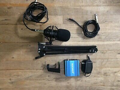 Neewer nw-700 Condenser Microphone and Phantom Power Supply Box