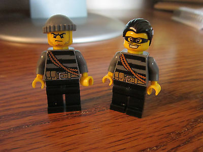 Bandit // Crook in Orange Vest Lego Minifig City ID CTY779 NEW RARE