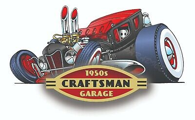 Craftsman Tool Sticker 1950 Rat Rod Decal Mechanic Toolbox Sign Chest Usa