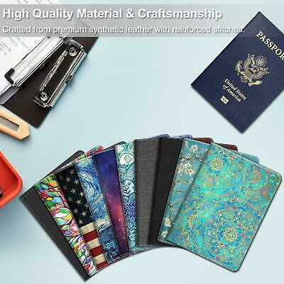 Passport Holder Travel Wallet RFID Blocking PU Leather Card Case Cover