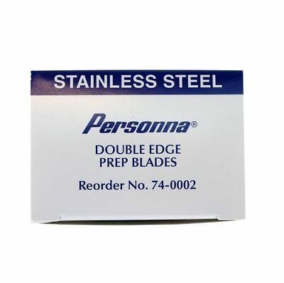 100 Personna Surgical Prep Blades 74-0002 Stainless Steel Double Sided Sterile