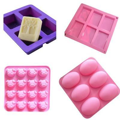Silicone DIY Cake Soap Mould Candle Chocolate Cake Cookie Craft Baking Mold Tool