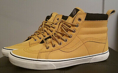 1382cea4748d94 Vans SK8 Hi MTE Leather Skateboard Shoes - Size  Mens 12   Color  Honey