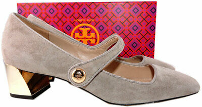 c6e6464edd96  260 Tory Burch Marisa Mary Jane Pumps French Gray Suede Low Heel Shoes 7.5