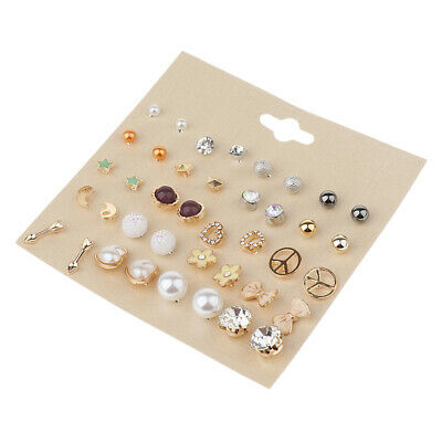 20 Pairs Cute Simple Stud Earrings Set Assorted Boho Jewelry for Women Girls