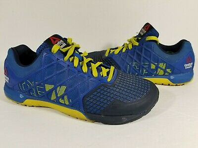 810161fd2b3 Reebok CrossFit Nano 4.0 CF74 Men s Blue Athletic Training Shoes Size 8