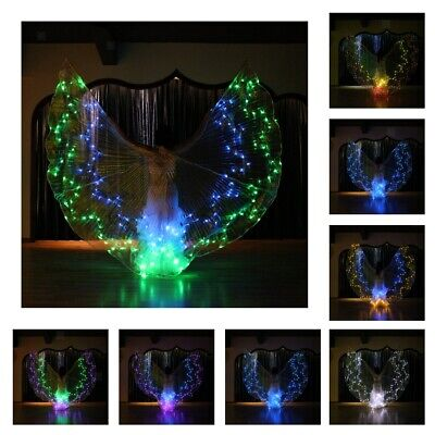 36 Color Changeable Glow Butterfly LED Belly Dance Wings Light up Isis Wings