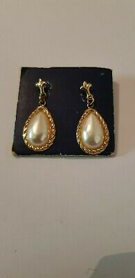 035e8b762 ANTIQUE ART DECO 9ct Gold And Pearl Drop Earrings. Hallmarked 9ct ...