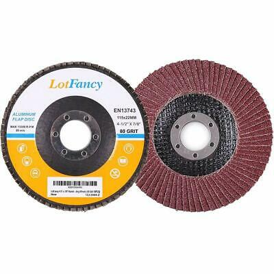 "Lot Of 20 4 1/2"" X 7/8"" Flap 80 Grit Wheel Sanding Disc Aluminum Oxide"