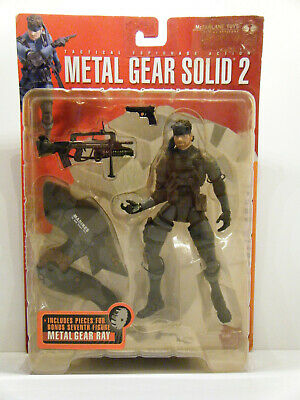 McFarlane Toys Solid Snake MOC Metal Gear Solid 2 Sons Of Liberty RARE