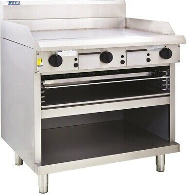LUUS Professional 900mm Chrome Plated Griddle Flat Top Toaster GTS-9 (CP) NG