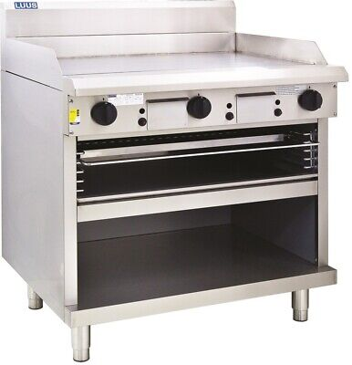 LUUS Professional 900mm Chrome Plated Griddle Flat Top Toaster GTS-9 (CP) LPG