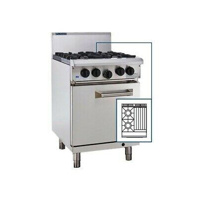LUUS Professional 2 Burner 300mm Chargrill & Oven Pilots Flame Fail RS-2B3C-P NG