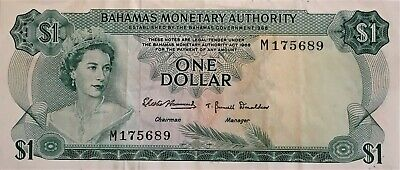 North & Central America Bahamas 1 Dollar P18 B 1965 Queen Ship Unc Uk Money Caribbean Bill Bank Note Coins & Paper Money