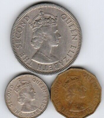 3 different world coins from SEYCHELLES