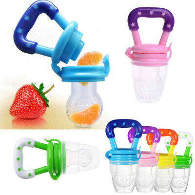 Baby Fresh Fruit Dummy Pacifier Feeder Bottle Nipple Nibble Weaning Teether Teat