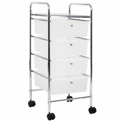 4 Drawer Trolley White Portable Salon Office Mobile Storage New By Home Discount