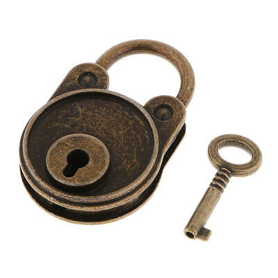 Vintage Antique Style Mini Archaize Useful Padlocks Key Lock With Key Bronze