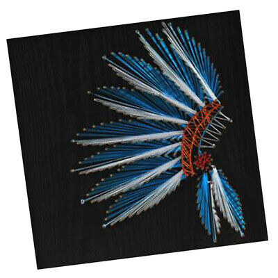 Feather Vintage String Art Kits for Adults Craft Nail Painting Wall Decor