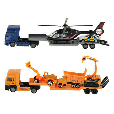 Trailer Truck Toys Alloy Car Model Toy For Children Gift Collection Trailer