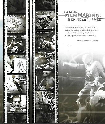 Usa 2003 Mnh American Film Making Behind The Scenes, Full Sheet