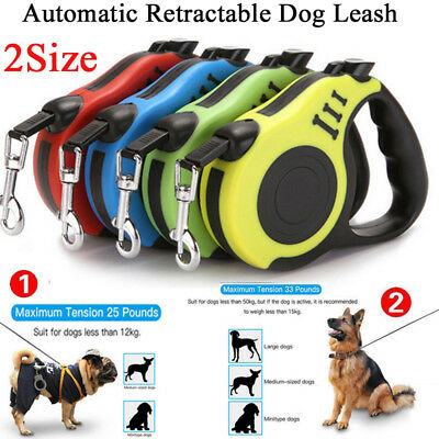 Retractable Dog Leash Eextendable Pet Automatic Walking Lead Tangle Free Leash