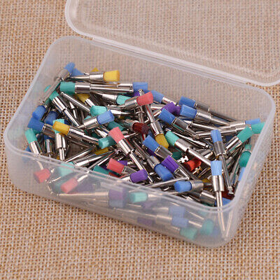 Mixed Color Nylon 100Pcs Latch Flat Polishing Polisher Prophy Bowl Dental Brush