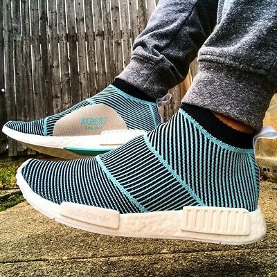 cbabcfe37 ADIDAS ORIGINALS MENS Nmd Cs1 Parley Primeknit Blue Trainers ...