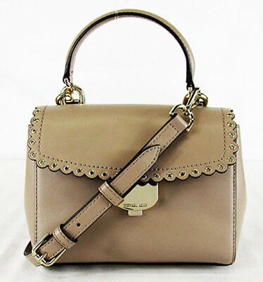 99d4c09b729d MICHAEL KORS AVA Truffle Leather XS Scalloped Crossbody Bag Msrp  228.00
