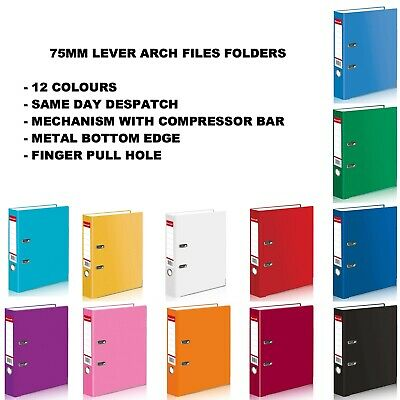 1 5 10 20 A4 Large 75mm Lever Arch Files Folders Stationery Metal Document