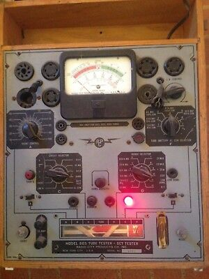 Radio City Products (RCP) Model 805 Tube Tester / Set Tester w/ Manual untested