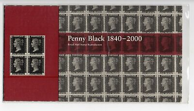 QV 2000 Penny Black block of 4 Reproduction Royal Mail Presentation Pack Scarce
