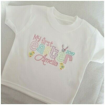 Personalised First 1st Easter T Shirt, Baby Clothes, 2019, Gift