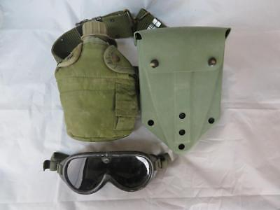 US Military Belt with Shovel, Canteen and 1 Pair of Goggles Kings Point
