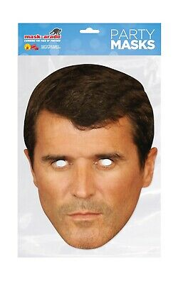 Roy Keane Face Party Mask Card A4 Fancy Dress Football Ladies Mens Kids Sport