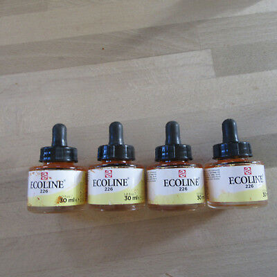 Talens ECOLINE 4 X Liquid Dye Based Watercolour Paint Ink 4 X 226 30ML. Yellow