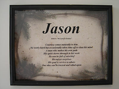 NAME Print - WOODS - Meaning of YOUR First Name *Personalized*