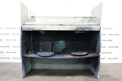 """Open Front Bench 107"""" W x 42"""" D x 34"""" H Paint Spray Booth w/ (2) Exhaust Fans"""