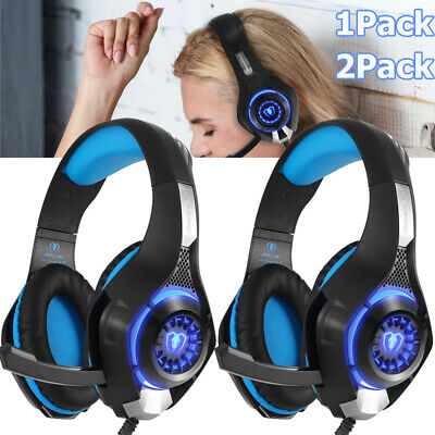 For PS4 Xbox One Nintendo Switch PC Stereo 3.5mm Gaming Headset Headphone W/MIC
