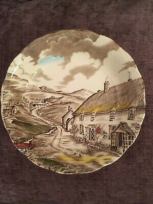 "W H Grindley ""Quiet Day"" Plate/Bowl/Ceramic/vintage. Staffordshire. England."