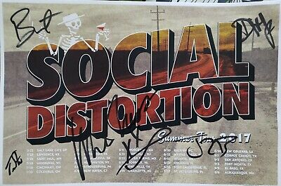 Rare Social Distortion Autographed Poster Mike Ness