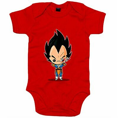 Body bebé Chibi Kawaii Vegeta parodia de Dragon Ball