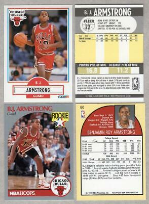 Bj Armstrong 1990 Nba Hoops Rookie Card Chicago Bulls 099