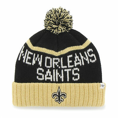 ed2c631b090 NFL New Orleans Saints Embroidered Jacquard Graphic Cuff Knit Hat by  47  Brand